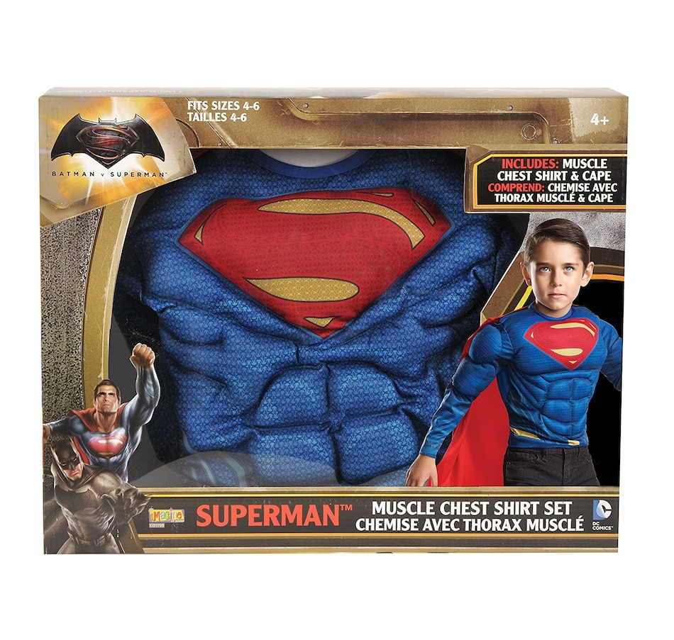 Image 600737.jpg , Product 600-737 / Price $39.99 , Imagine by Rubie's Muscle Chest Shirt and Cape Role Play Costume Set  on TSC.ca's Coins & Hobbies department