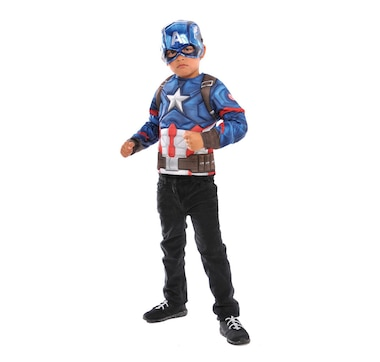 Imagine by Rubie's Captain America Deluxe Costume Top Role Play Costume Set