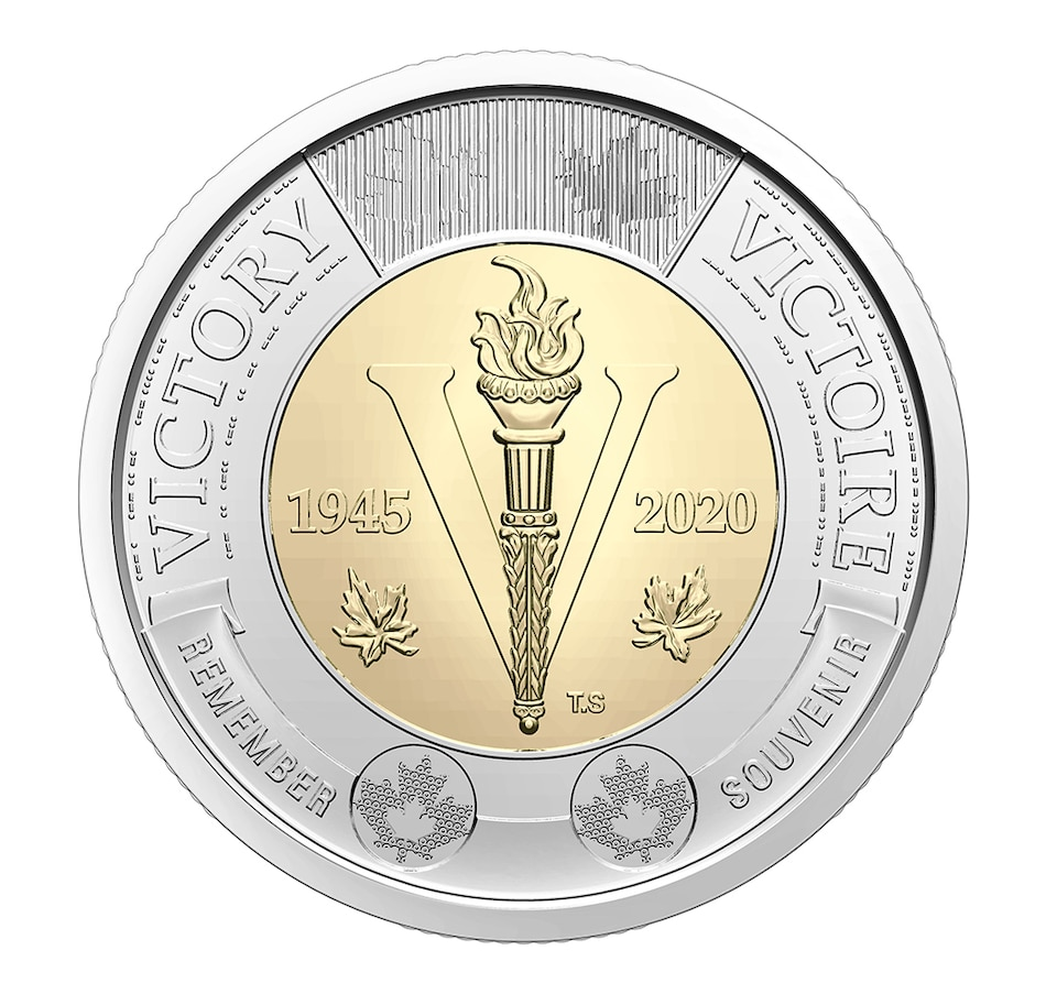 Image 600851.jpg , Product 600-851 / Price $99.95 , 2020 $2 Special Wrap Roll, Classic Engraved Version, 75th Anniversary of the Second World War (25 coins per roll) from Royal Canadian Mint on TSC.ca's Coins department