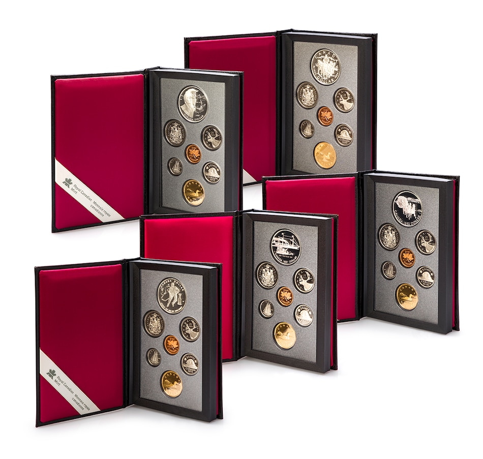 Image 603168.jpg , Product 603-168 / Price $449.95 , Silver Dollar Prestige Proof Sets, 1991–1995 from Royal Canadian Mint on TSC.ca's Coins department