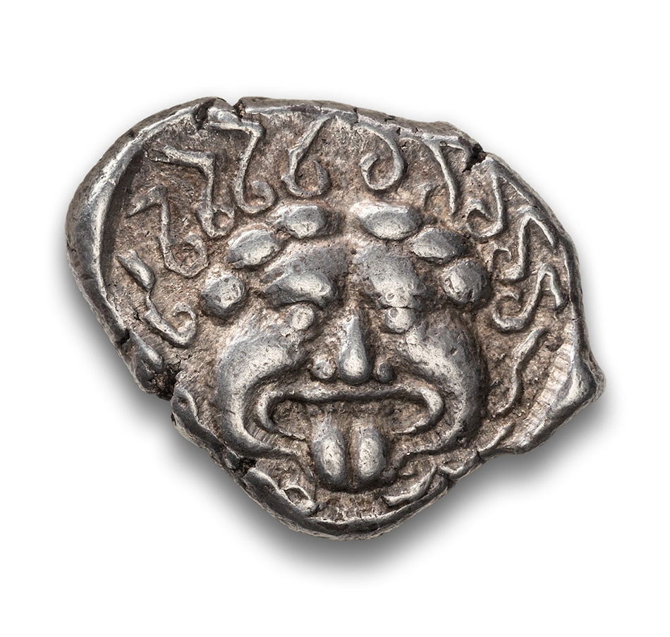 Image 603174.jpg , Product 603-174 / Price $169.95 , Ancient Greek Gorgon Design Silver Drachm, City of Apollo, 450–350 BCE from Canadian Coin & Currency on TSC.ca's Coins department