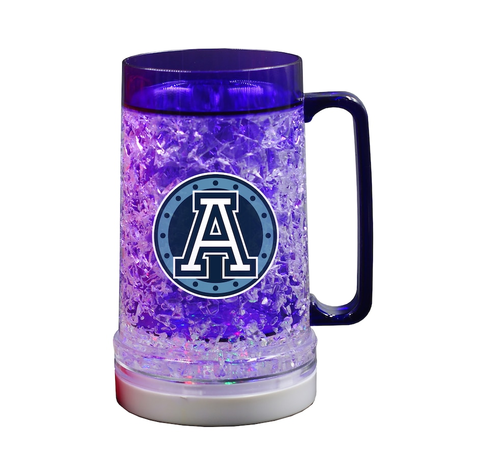 Image 603384.jpg , Product 603-384 / Price $24.99 , The Sports Vault CFL Licensed Toronto Argonauts 16 OZ Light-up Freezer Mug  on TSC.ca's Kitchen department