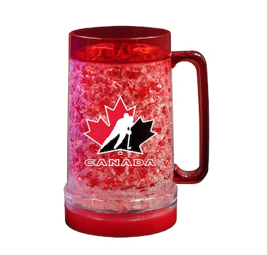 The Sports Vault Hockey Canada Licensed 16 OZ Light-up Freezer Mug