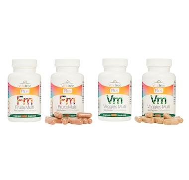VitaTree Plus Fruits Multi & Veggies Multi 60-Day