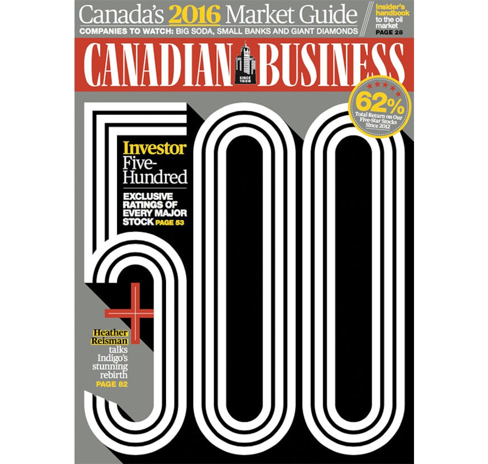 Canadian Business Magazine 1 Year Subscription - 16 Issues