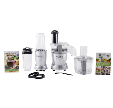 NutriBullet 10-Piece Prime Set with Free Veggie Bullet 3-in-1 Machine