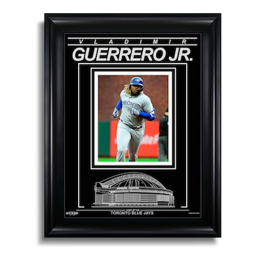 Vladimir Guerrero Jr. Toronto Blue Jays Engraved Framed Photo - First Career Home Run