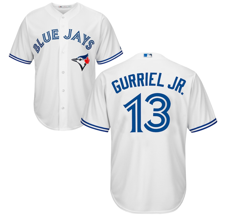 Image 609621.jpg , Product 609-621 / Price $199.99 , Men's Lourdes Gurriel Jr. Toronto Blue Jays MLB Cool Base Replica Home Jersey  on TSC.ca's Sports department