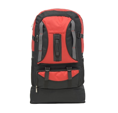 Club Rochelier Multi-Pocket Expander Camper Backpack-Red/Black
