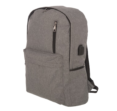 Club Rochelier Laptop Backpack With USB And Headphone Jacks-Grey