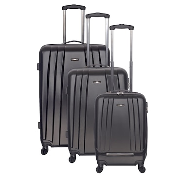 Club Rochelier Globetrotter 3 Piece Hard-Side Luggage Set-Black