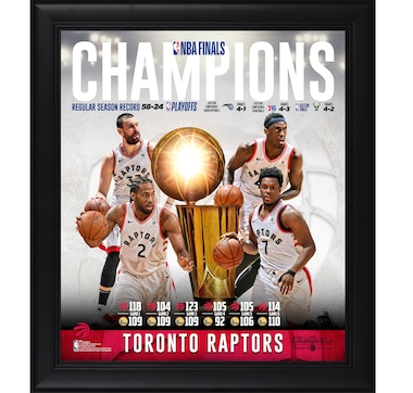 "Fanatics Authentic Toronto Raptors Framed 15"" x 17"" NBA Championship Collage"