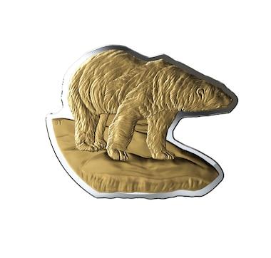 2020 Real Shapes $50 Three-Ounce Fine Silver Coin - Polar Bear
