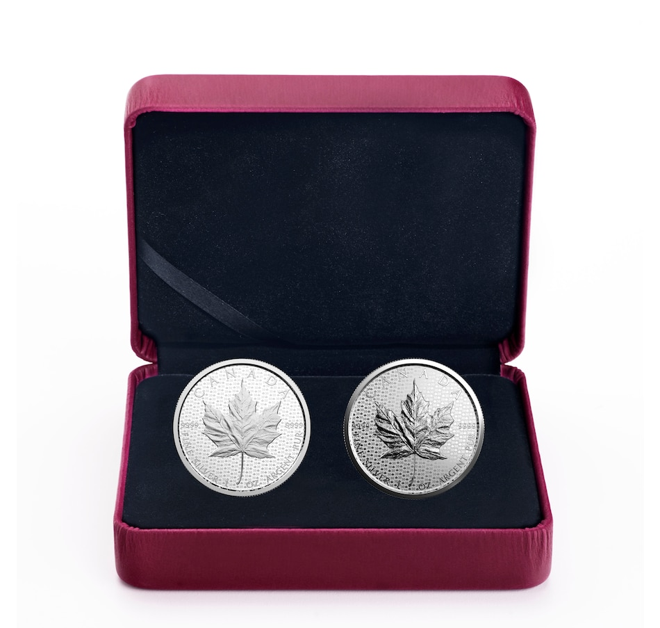 Image 618483.jpg , Product 618-483 / Price $189.95 , 2018 $5 Fine Silver Two-Coin Set - 30th Anniversary of the Silver Maple Leaf from Royal Canadian Mint on TSC.ca's Coins department