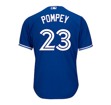 Men's Dalton Pompey Toronto Blue Jays MLB Cool Base Replica Away Jersey