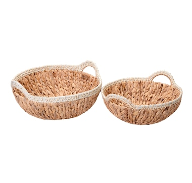 Villacera Elsie Wicker Round Nesting Baskets (Set of 2)