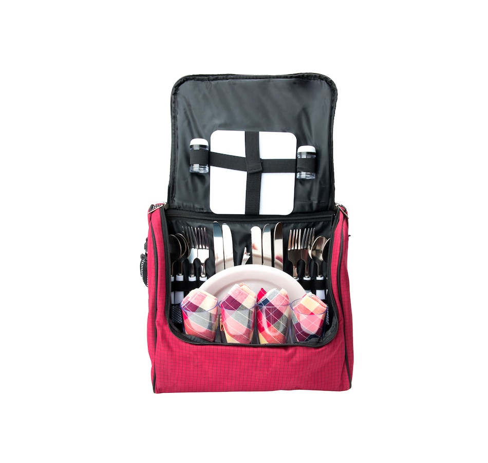 Image 618934.jpg , Product 618-934 / Price $59.99 , Picnic Tote Kit (29-Piece Set) from Outset Grillware on TSC.ca's Kitchen department