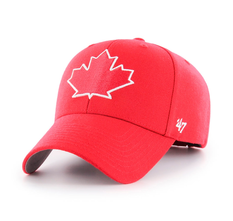 Image 619059.jpg , Product 619-059 / Price $34.99 , Toronto Blue Jays MLB Leaf Logo Red MVP Cap  on TSC.ca's Sports department