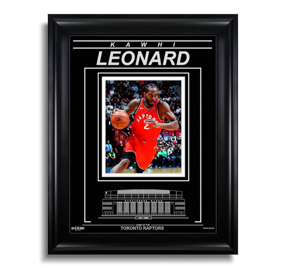 Image 619108.jpg , Product 619-108 / Price $119.99 , Kawhi Leonard Toronto Raptors Engraved Framed Photo - Action  on TSC.ca's Sports department