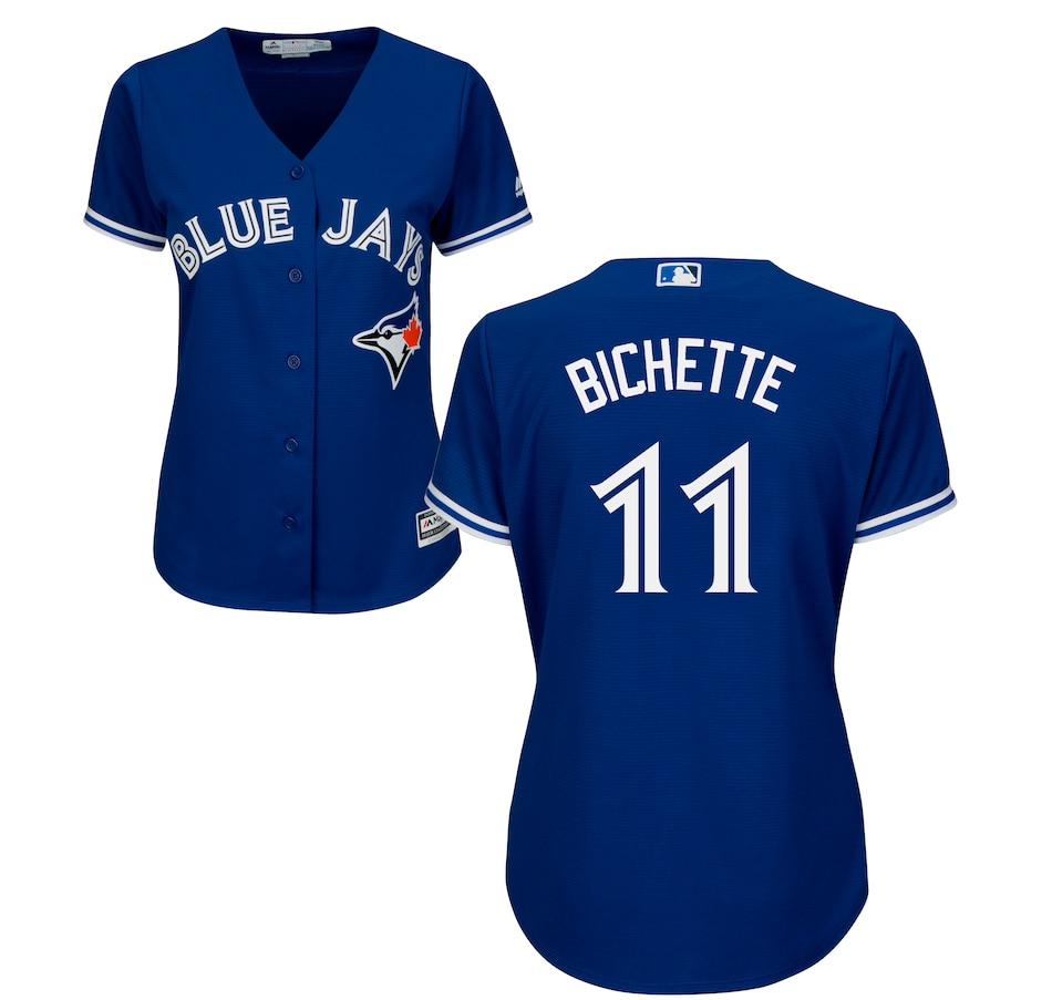 Image 619148.jpg , Product 619-148 / Price $169.99 , Ladies' Bo Bichette Toronto Blue Jays MLB Cool Base Replica Away Jersey  on TSC.ca's Sports department