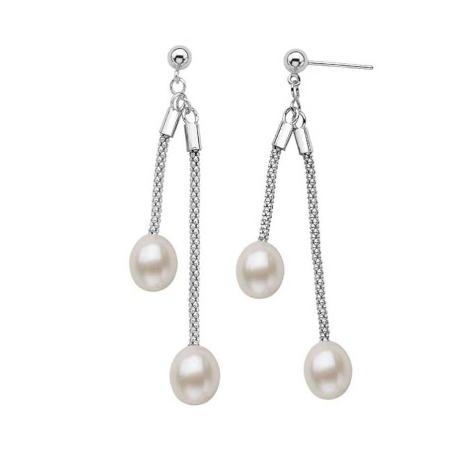 Image 619416_WHT.jpg , Product 619-416 / Price $51.99 , SUGOI Multi-Pearl Sterling Silver Dangling Earrings from Sugoi Pearls on TSC.ca's Jewellery department