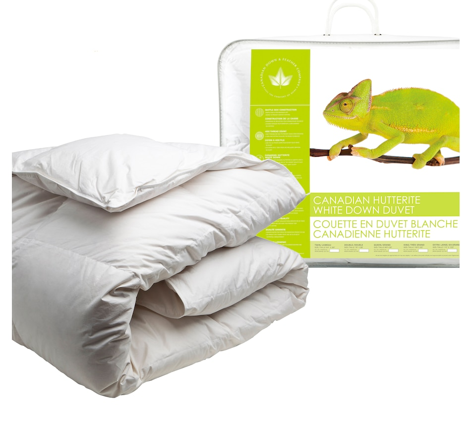 Image 625017.jpg , Product 625-017 / Price $300.00 - $600.00 , Canadian Down & Feather Company Hutterite White Down Duvet (Regular Weight) from Canadian Down & Feather on TSC.ca's Home & Garden department
