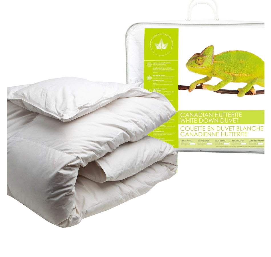 Image 625018.jpg , Product 625-018 / Price $350.00 - $675.00 , Canadian Down & Feather Company Hutterite White Down Duvet (All-Season Weight) from Canadian Down & Feather on TSC.ca's Home & Garden department