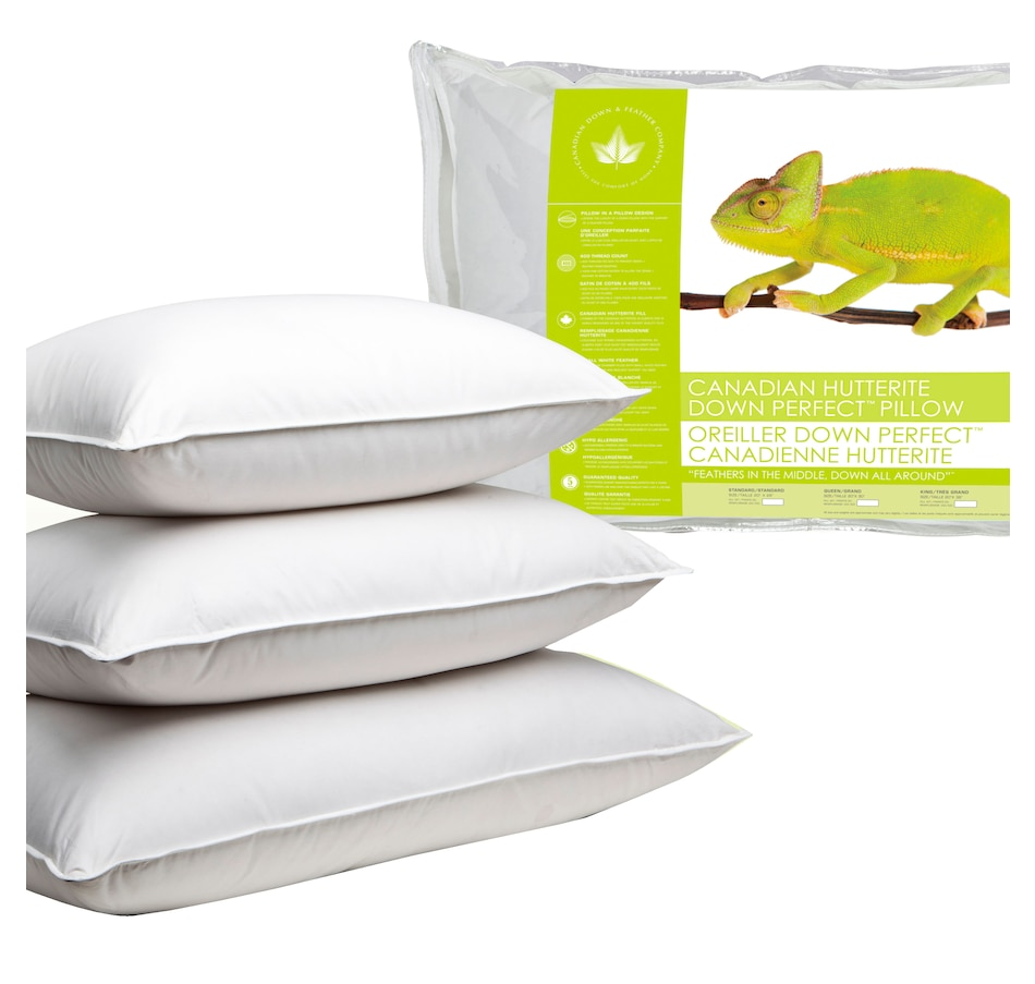 Image 625019_FIRM.jpg , Product 625-019 / Price $125.00 - $200.00 , Canadian Down & Feather Company Hutterite Down Perfect Pillow (Medium) from Canadian Down & Feather on TSC.ca's Home & Garden department