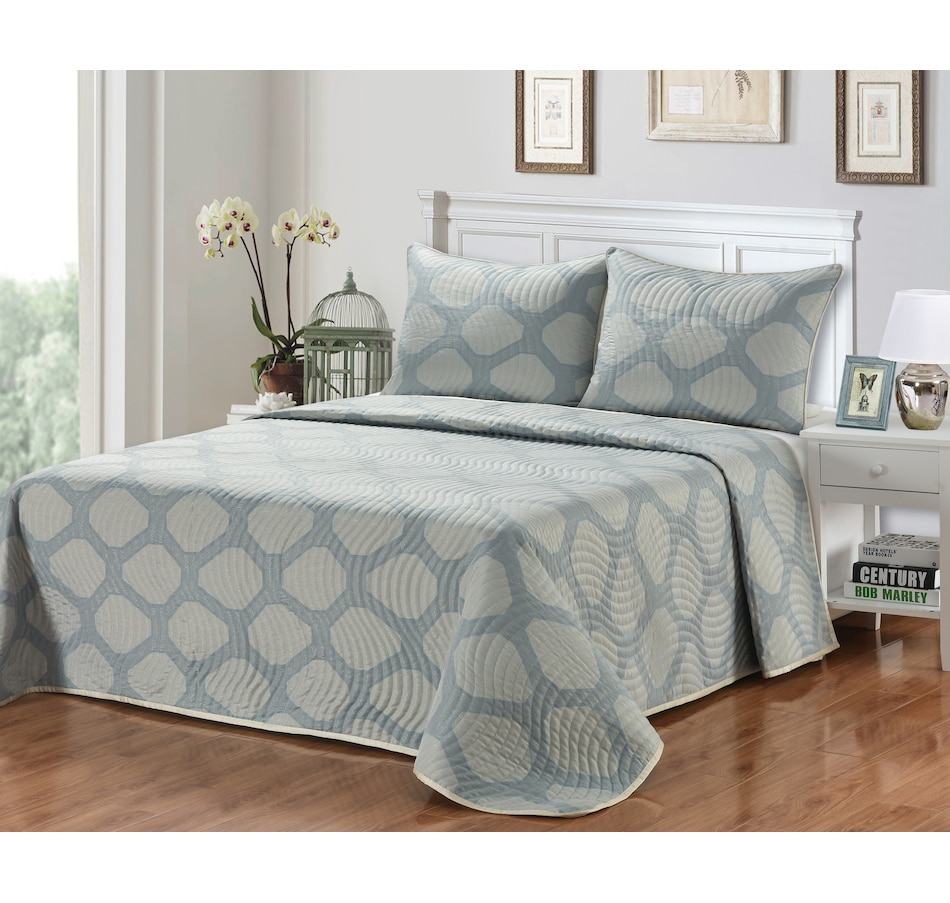Image 625054_BLU.jpg , Product 625-054 / Price $120.99 - $137.99 , New Season Home Liberty 3-Piece Coverlet Set from New Season on TSC.ca's Home & Garden department