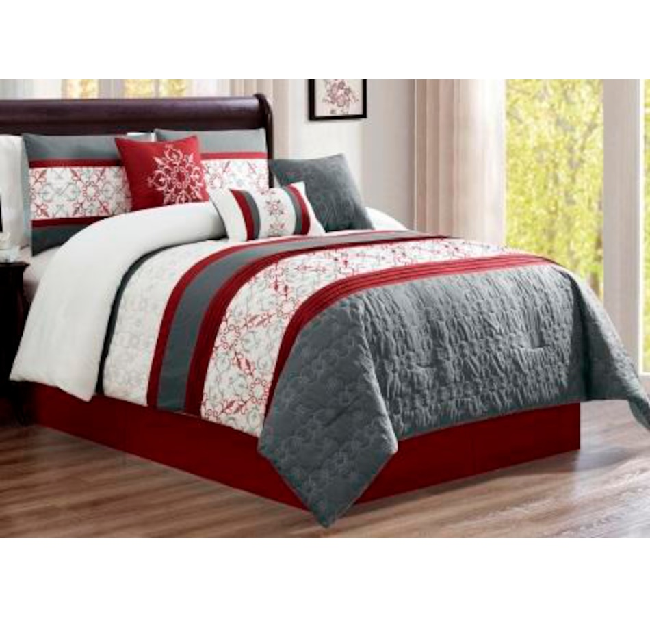 Image 625157_RED.jpg , Product 625-157 / Price $153.99 , Lady Sandra Painswick 7-Piece Comforter Set from Lady Sandra on TSC.ca's Home & Garden department