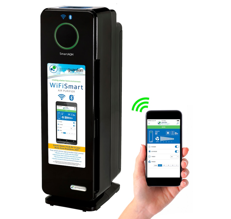 """Image 625320.jpg , Product 625-320 / Price $219.99 , GermGuardian 22"""" Wifi Smart 4-in-1 Air Purifier with True HEPA Filter from Guardian Technologies on TSC.ca's Home & Garden department"""