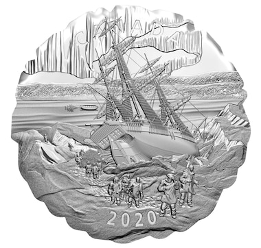 2020 $50 Franklin's Lost Arctic Expedition Five-Ounce Fine Silver Coin