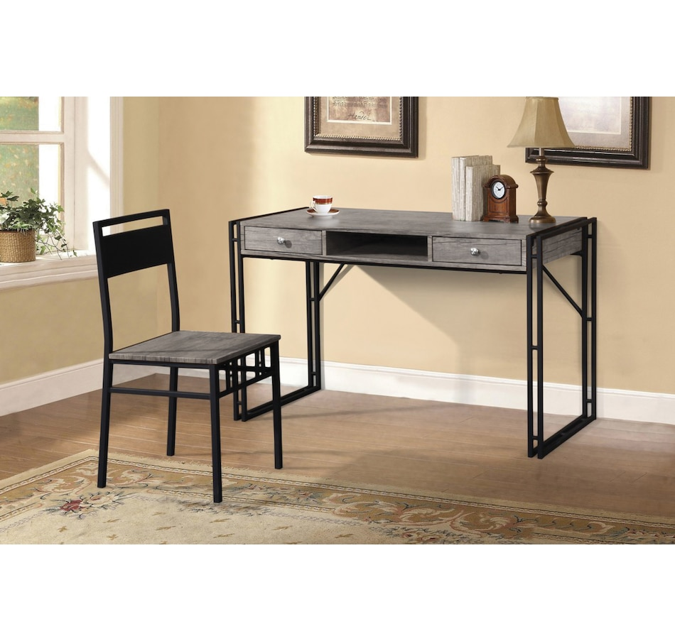 Image 625532.jpg , Product 625-532 / Price $199.99 , Titus Contemporary Distressed Grey Wood Finish Desk and Chair Set from Titus Furniture on TSC.ca's Home & Garden department