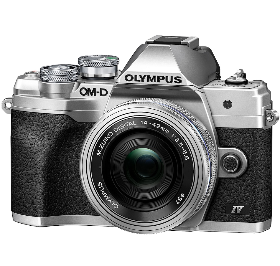 Image 625717.jpg , Product 625-717 / Price $1,049.99 , Olympus OM-D E-M10 Mark IV Silver Body with Silver M. Zuiko Digital ED 14–42 mm F3.5–5.6 EZ Lens Kit from Olympus on TSC.ca's Electronics department