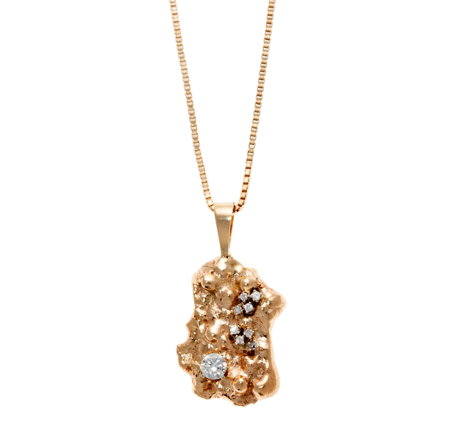 Buy funky 14kt yellow gold nugget pendant with diamonds jewellery buy funky 14kt yellow gold nugget pendant with diamonds jewellery pendants online shopping for canadians aloadofball Gallery