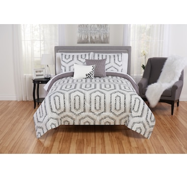Beco Home Geometric Reversible Comforter Set