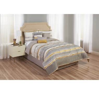 Beco Home Golden Stripe Reversible Comforter Set