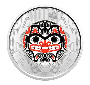 2020 $2 Special Wrap Roll: Haida Grizzly Bear Full Colour Bill Reid Commemorative