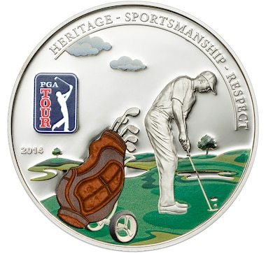 Celebrate Golf: Choice of Three Different Silver Golf Coins (Fairway or Green or Tee)
