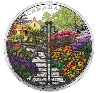 2017 $30 Fine Silver Proof Coin - Gate to Enchanted Garden