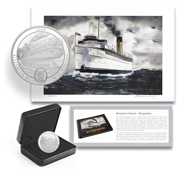 2020 SS Keewatin $30 Fine Silver Coin plus Limited-Edition Signed Print