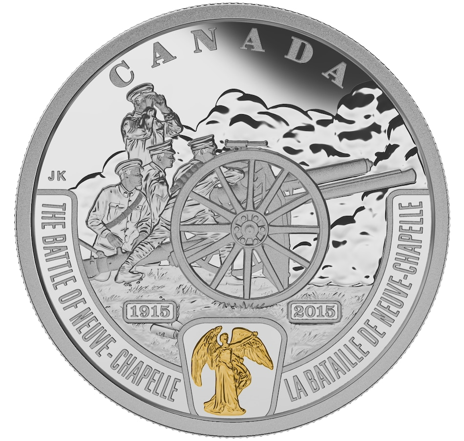 Image 630594.jpg , Product 630-594 / Price $109.95 , $20 Fine Silver Proof Coin First World War: Battlefront Series - The Battle of Neuve-Chapelle from Royal Canadian Mint on TSC.ca's Coins department