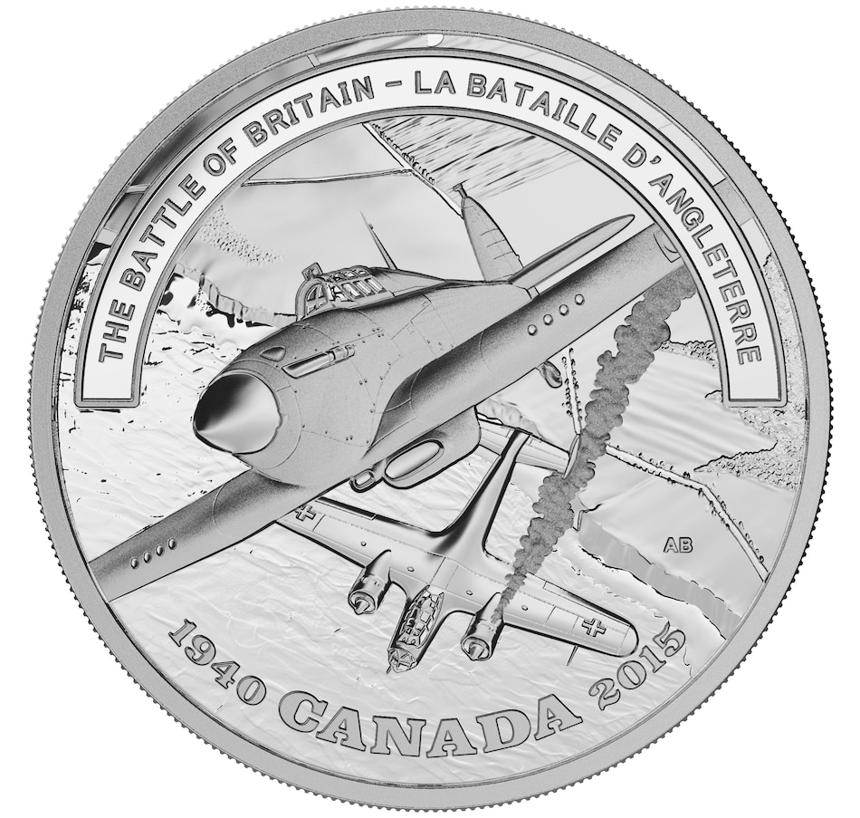 Image 630596.jpg , Product 630-596 / Price $92.95 , $20 Fine Silver Proof Coin WWII Battlefront Series - The Battle of Britain from Royal Canadian Mint on TSC.ca's Coins department