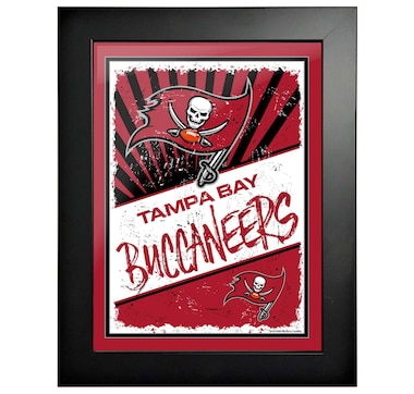 "Tampa Bay Buccaneers 12"" x 16"" Classic Framed Artwork"