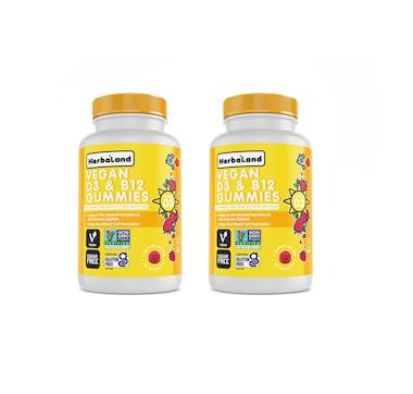 Herbaland Vegan D3 & B12 Duo 180-Day Supply