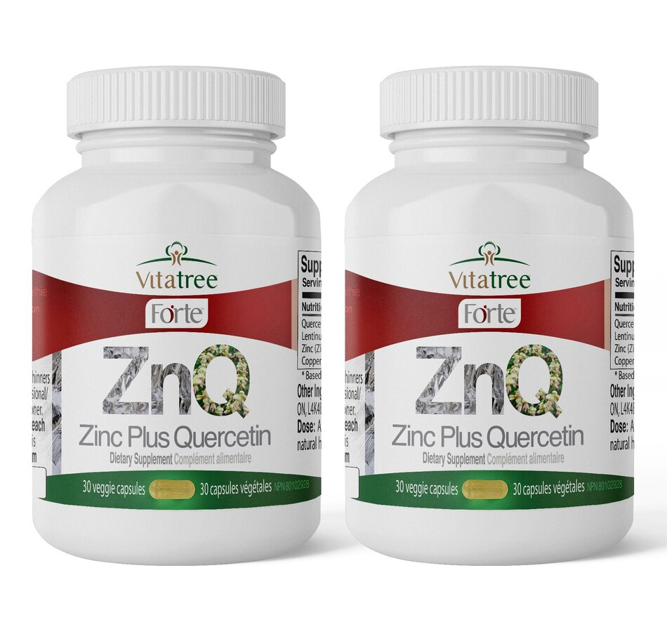 Image 631157.jpg , Product 631-157 / Price $39.99 - $76.99 , VitaTree Forte Zinc Plus Quercetin 60-Day from VitaTree Nutritionals on TSC.ca's Health & Fitness department