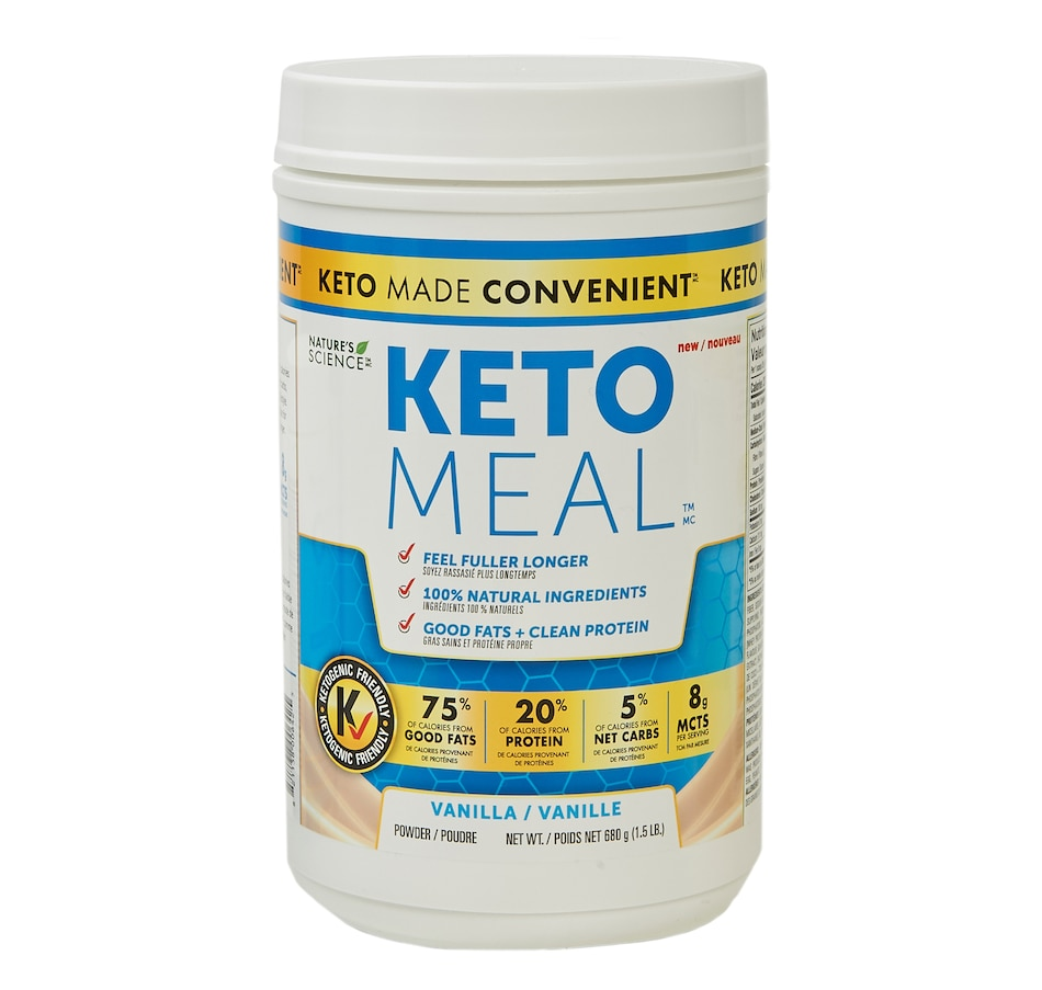 Image 631586_VAN.jpg , Product 631-586 / Price $55.00 , Keto Made Convenient Nature's Science Keto Meal - Vanilla (1.5 lbs) from Keto Made Convenient on TSC.ca's Health & Fitness department