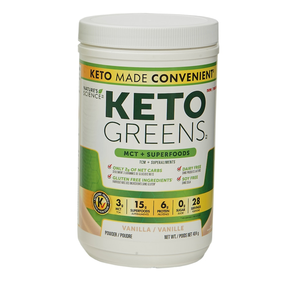 Image 631587.jpg , Product 631-587 / Price $40.00 , Keto Made Convenient Nature's Science Keto Greens (404 g) from Keto Made Convenient on TSC.ca's Health & Fitness department