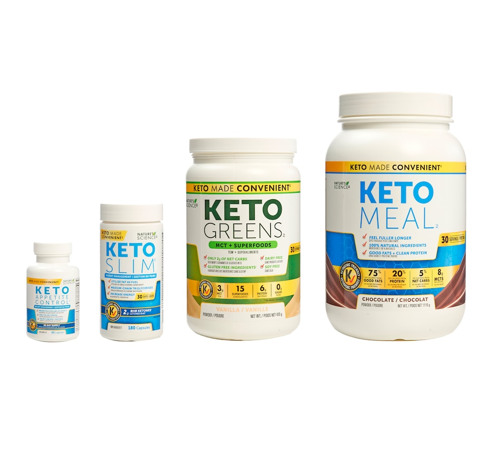 Image 631802_CHO.jpg , Product 631-802 / Price $189.99 , Keto Made Convenient Nature's Science 30-Day Bundle with Appetite Control from Keto Made Convenient on TSC.ca's Health & Fitness department