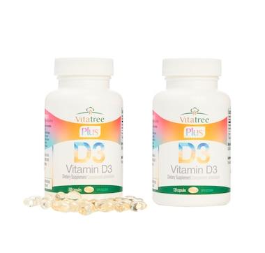 Vitatree Plus Vitamin D3 Capsules 2 Bottles